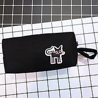 Hộp Bút Vải - Phối Sticker Mèo