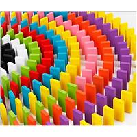 Đồ chơi xếp hình Domino 1000 chi tiết bằng gỗ nhiều màu sắc cho bé yêu thỏa sức sáng tạo đồ chơi thông minh