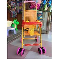 Xe đẩy mây không gấp (có tay đẩy, để chân, vịt kêu)- màu cho be trai- chọn mẫu ngẫu nhien