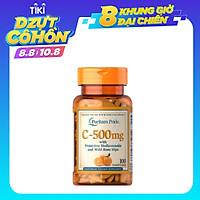 Viên Uống Puritan's Pride Vitamin C 500 mg with Bioflavonoids & Wild Rose Hips 100 v của Mỹ, Bổ Sung Vitamin và khoáng chất, tăng sức đề kháng, hệ miễn dịch, hạn chế sự xâm nhập của virus, vi khuẩn, phòng cảm lạnh