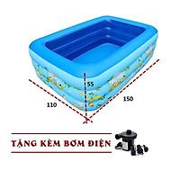 Bể Bơi Phao 1m5 3 Tầng Họa Tiết TẶNG KÈM Bơm Điện