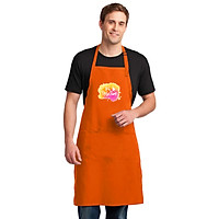 Tạp Dề Làm Bếp In Hình Be Positive - MS ABZTU001 – Màu Cam