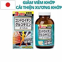 Viên uống Glucosamine Chondroitin Z-SX - Viên bổ xương khớp chính hãng Nhật Bản 720 viên 1610mg. Thực phẩm chức năng hỗ trợ giảm đau khớp và điều trị thoái hóa khớp