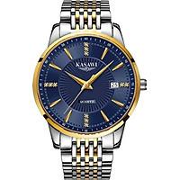 Đồng hồ nam KASAWI KAS1988 Lịch ngày sang trọng doanh nhân 2020 dây hợp kim thép không gỉ
