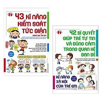 Combo 2 Cuốn Sách Kỹ Năng Xã Hội Cho Trẻ Em: 43 Kĩ Năng Kiểm Soát Tức Giận + 42 Bí Quyết Giúp Trẻ Tự Tin Và Dũng Cảm Trong Quan Hệ Bạn Bè / Bộ Những Cuốn Sách Kinh Nghiệm Từ Nước Nhật - Tặng Kèm Bookmark Happy Life