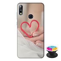 Ốp lưng cho điện thoại Asus Zenfone Max Pro M2 hình Tình Yêu tặng kèm giá đỡ điện thoại iCase xinh xắn - Hàng chính hãng