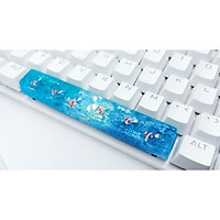 Keycap artisan cá koi thanh space bar 6.25u tone xanh trang trí bàn phím cơ.