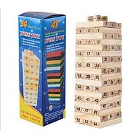 Boardgame Rút Gỗ Số Loại 54 thanh 5x5x16,5