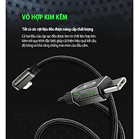 Cáp sạc nhanh truyền dữ liệu vuông góc USB-to-Lightning Black Shark Mfi chuẩn apple - HÀNG CHÍNH HÃNG