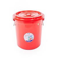 Thùng tròn có nắp 35 lít Duy Tân 677 (39 x 39 x 41.5 cm) giao màu ngẫu nhiên thùng đựng gạo thực phẩm