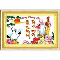 Tranh thêu chữ thập Mừng Thượng Thọ    DLH-222758
