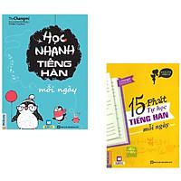 Combo Sách Học Tiếng Hàn Hay Nhất: 15 Phút Tự Học Tiếng Hàn + Học Nhanh Tiếng Hàn (Học Kèm App MCBooks Application) (Cào Tem Để Mở Quà Tặng) (Quà Tặng: Bút Blue Đáng Yêu)