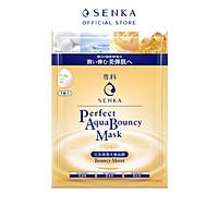 Mặt nạ cấp ẩm và đàn hồi Senka Perfect Aqua Bouncy Mask Bouncy Moist 23g