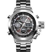 Đồng hồ SKMEI 1515 Chống nước 3ATM Màn hình kép Double Movements Giờ GMT Đa chức năng