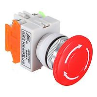 1 NC N/C Emergency Stop Switch Push Button Mushroom Push Button 4Screw Terminals