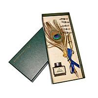 Bút lông khổng tước mạ vàng 24k - ANCARAT