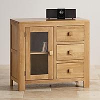 Tủ lưu trữ 1 cánh kính 3 ngăn kéo Juno Sofa gỗ sồi