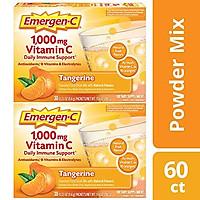 Viên sủi vitamin c vị cam Emergen-C Vitamin C 1000mg Powder 60 Count Tangerine Flavor 2 Month Supply