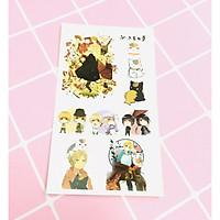 Set 5 Bảng hình xăm Natsume Yuujinchou Sticker Tattoo