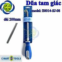 Dũa tam giác 200mm C-Mart E0014-SJ-08 cán nhựa xanh