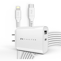 Bộ Adapter + Cáp sạc Feeltek Lightning PD Pack US 30W Type C to Lightning White 1m2 - Hàng Chính Hãng