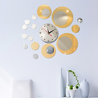 Đồng hồ treo tường 3D tự lắp ráp phong cách Châu Âu hiện đại  DH02 hình tròn