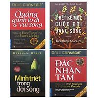 Combo 4 Cuốn Sách: Đắc Nhân Tâm (Khổ Lớn) + Quẳng Gánh Lo Đi & Vui Sống (Khổ Lớn) + Minh Triết Trong Đời Sống + Thiết Kế Một Cuộc Đời Đáng Sống