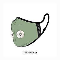 Khẩu trang thời trang cao cấp Soteria Greenlily ST063 - Khẩu trang vải hoạt tính [size M,L] Van trắng