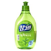 Nước Rửa Rau Quả Và Chén Bát CJ Lion Real Green Tinh Chất Trà Xanh Charmgreen 500g