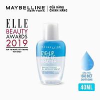 Nước Tẩy Trang Mắt và Môi Chuyên Dụng 2 lớp Maybelline New York Eye & Lip 40ml