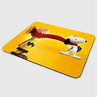Miếng lót chuột mẫu Cún Snoopy Nền Vàng (20x24 cm) - Hàng Chính Hãng