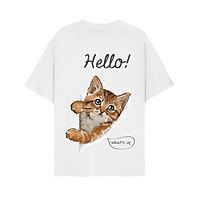 Áo thun unisex mèo dễ thương hello cực yêu cho các Sen form đẹp vải dày mịn mát 2019T1262
