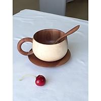 Bộ ly cốc cà phê gỗ keo chống thấm nước