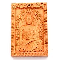Mặt gỗ hoàng đàn - Phật A di đà MG17