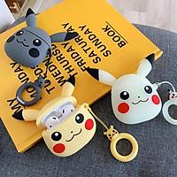 Case silicon bảo vệ hộp đựng tai nghe bluetooth phụ kiện iphone không dây Airpods 1 2 mẫu Pikachu