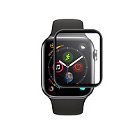 Dán màn hình dành cho  Apple Watch Series 4 44mm GOR 3D full viền đen (Hộp 2 miếng) - Hàng chính hãng
