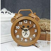 Đồng hồ báo thức để bàn nhựa gấu nâu 14x18cm