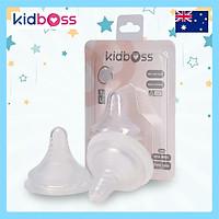 Cặp Núm Ti Silicone Kidboss Premium (Bình PPSU) - Size + (trên 12 tháng)