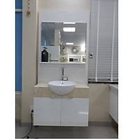 Mẫu tủ lavabo nhựa nhà vệ sinh nhỏ hẹp LBK109