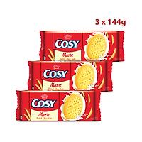 Combo 3 Gói Cosy Bánh Quy Marie 144g