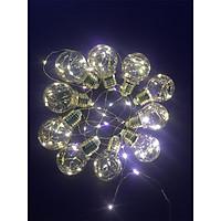 Bộ Dây Đèn LED G45 Chạy Ắc Quy Trang Trí Nhà (10 Bóng) (100 LED) - Trắng