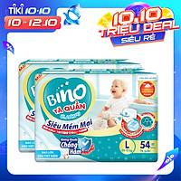 Combo 2 Tã Quần Bino L54 [54 miếng] công nghệ Nhật Bản [kháng khuẩn, chống hăm] dành cho bé từ 9- 13kg,