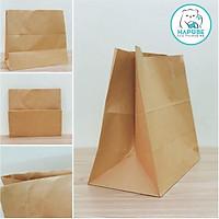 100 Túi giấy kraft nhật K2034 không quai đựng thực ăn, đựng đồ 33x17.5x30cm Hapobe