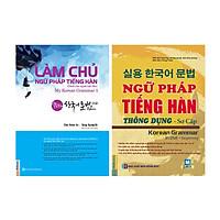 Bộ Sách Học Tiếng Hàn Cơ Bản: Làm Chủ Ngữ Pháp Tiếng Hàn Dành Cho Người Mới Bắt Đầu + Ngữ Pháp Tiếng Hàn Thông Dụng Sơ Cấp (Học Kèm App MCBooks) (Quà Tặng: Bút Blue Đáng Yêu)