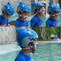 Mũ bảo hiểm cá mập một sừng trẻ em dành cho bé từ 5 - 8 tuổi