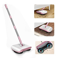 Stainless Steel Sweeping Machine Hand Push Magic Broom 180° Rotating Dustpan Automatic Sweeper Household Mop