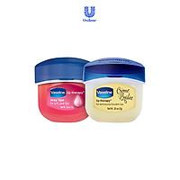 Bộ 2 sáp dưỡng môi Vaseline dạng hũ: Hồng Xinh và Ngọt Ngào