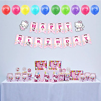 Bộ phụ kiện trang trí sinh nhật Kitty