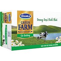 Thùng 48 Sữa Tươi Tiệt Trùng Vinamilk Green Farm - Sữa Tươi 100% Có Đường 180ml