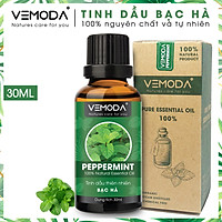 Tinh dầu Bạc hà cao cấp. Peppermint Essential Oil 30ML. Tinh dầu xông phòng giúp thư giãn, kháng khuẩn, giải cảm, xua đuổi côn trùng, chăm sóc răng miệng. Tinh dầu thơm phòng cao cấp Vemoda